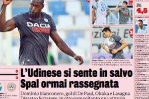 Gazzetta dello sport: L'Udinese si sente in salvo | Udinese Blog