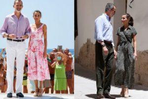 Letizia di Spagna supera se stessa: tuta da 40 euro e il perfetto abito estivo