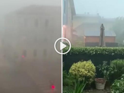 Maltempo in Lombardia: bomba d'acqua a Brescia, venti oltre i 130 km/h