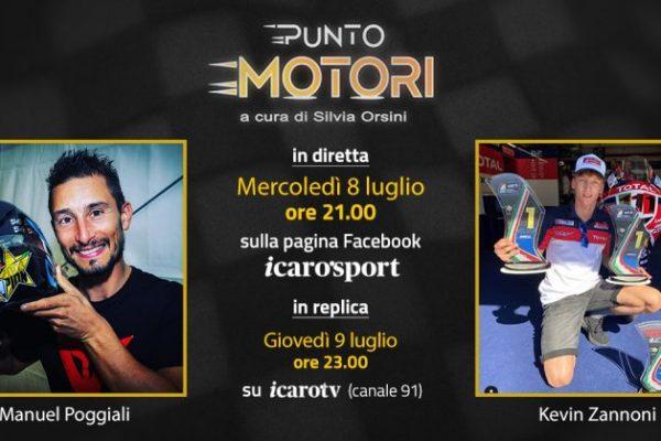 """Manuel Poggiali e Kevin Zannoni protagonisti della 9a puntata di """"Punto Motori"""""""