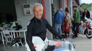 Ciccio Tausani sulla sua moto (foto tratta dal web)