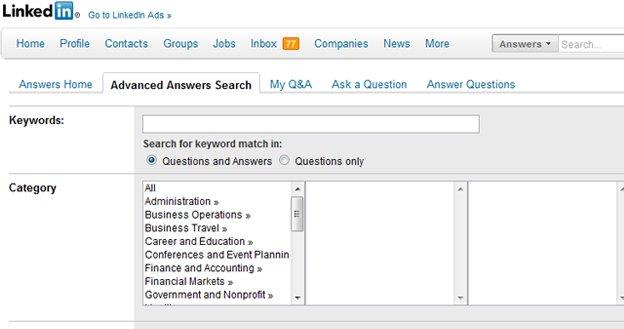 Ricerca risposte LinkedIn