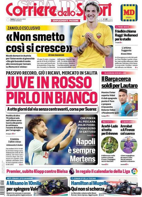 Corriere dello Sport prima pagina