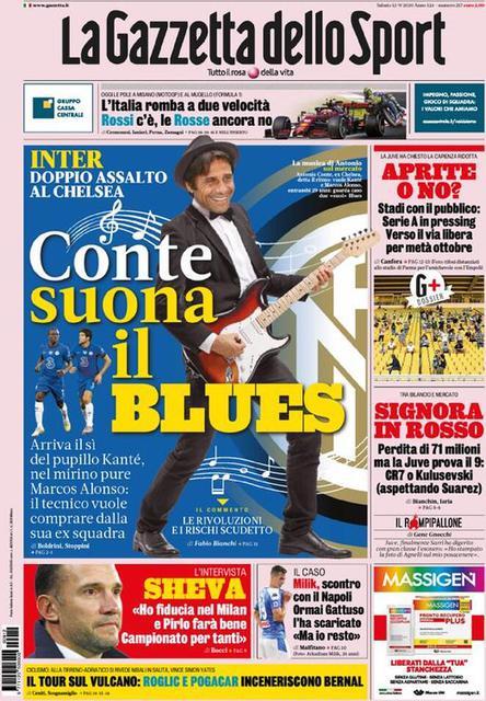 La Gazzetta dello Sport prima pagina