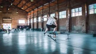 Skate nel capannone Eden Park