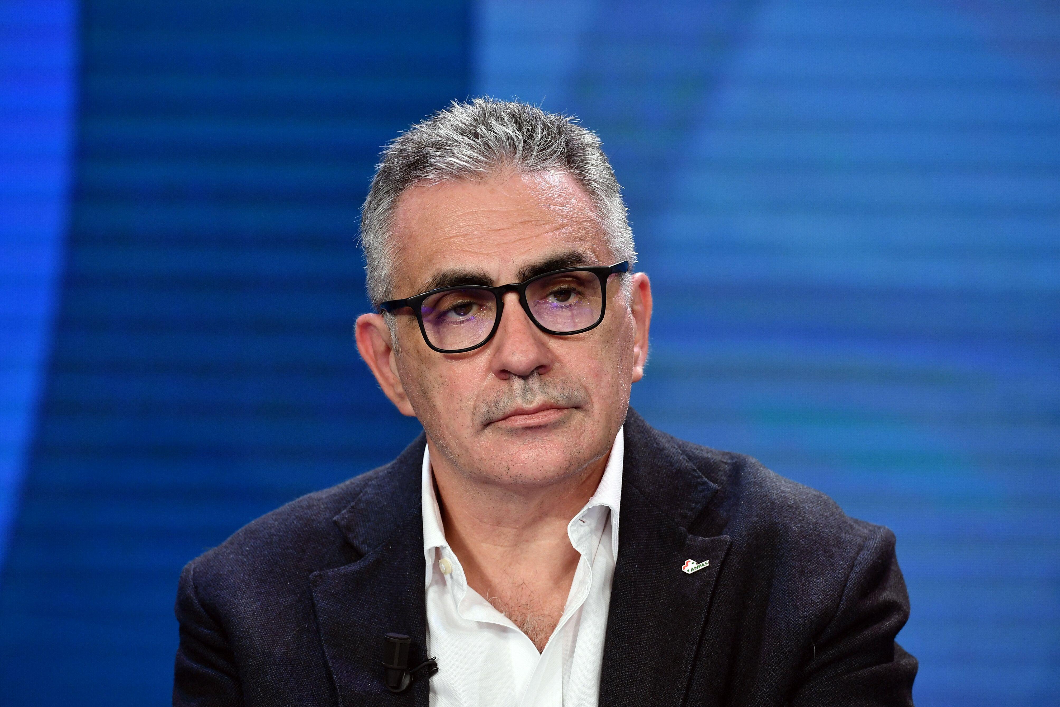 14/10/2020 Roma. Rai. Programma televisivo Porta a Porta, nella foto prof. Fabrizio Pregliasco virologo...