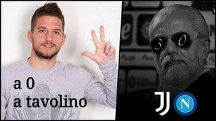 Juve-Napoli, 3-0 a tavolino: meme e ironie sui social