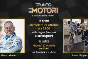 Mirco Urbinati e Paolo Filippini ospiti della 23a puntata di Punto Motori