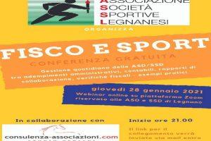 Fisco e sport, un incontro online per le società sportive legnanesi
