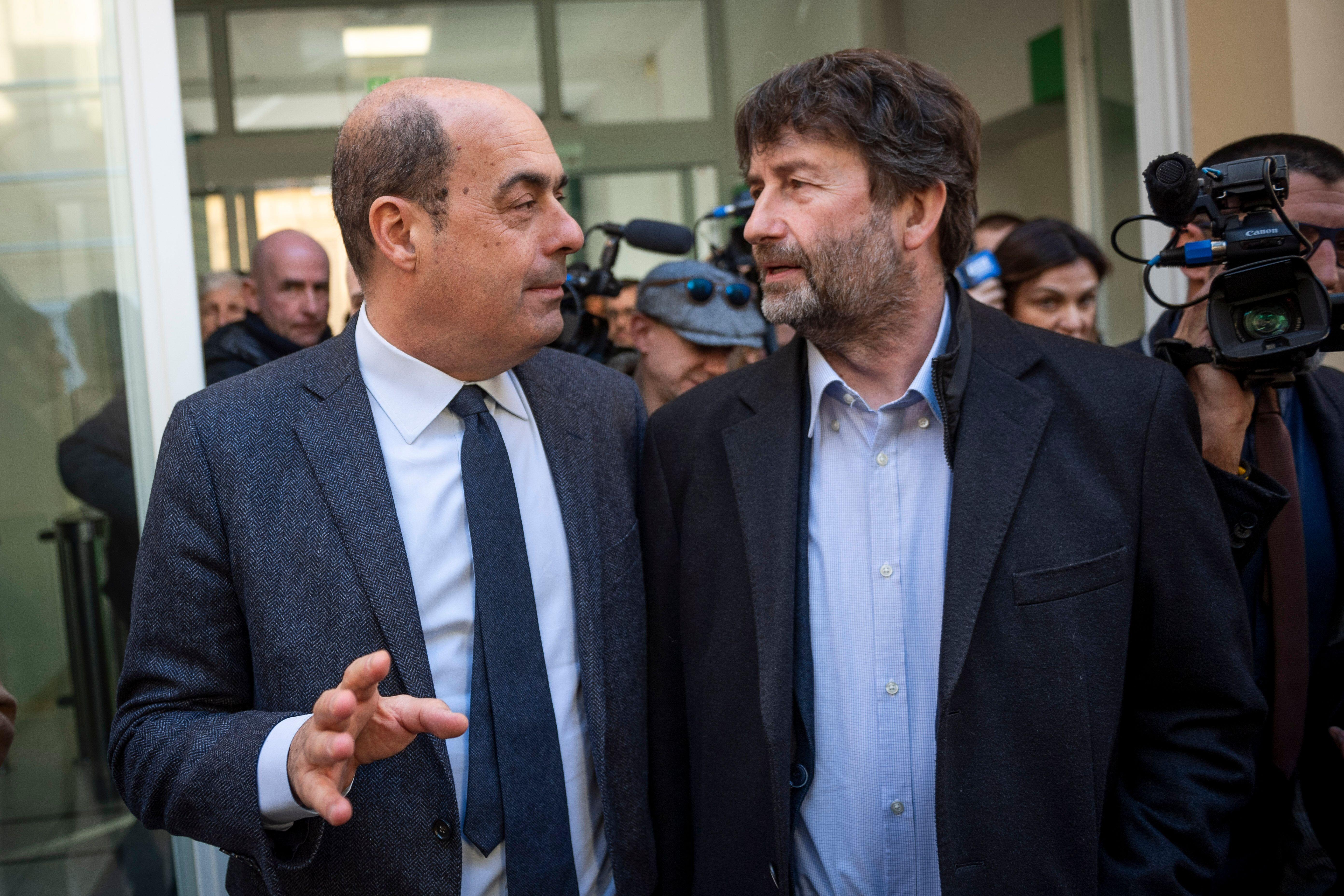 ROME, ITALY - FEBRUARY 11: General Secretary of Democratic Party (PD) Nicola Zingaretti and Italian Minister...