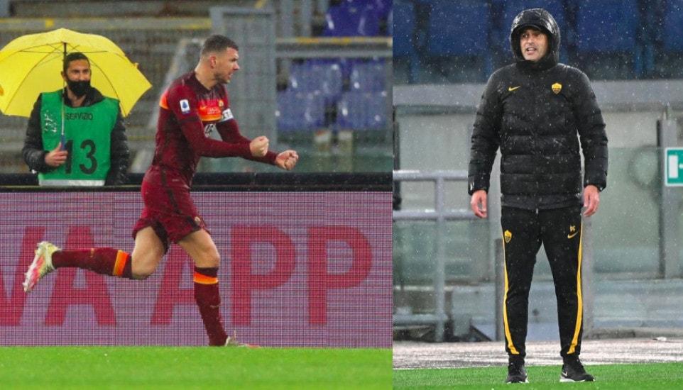 Roma, Dzeko regala la vittoria a Fonseca: Sampdoria ko