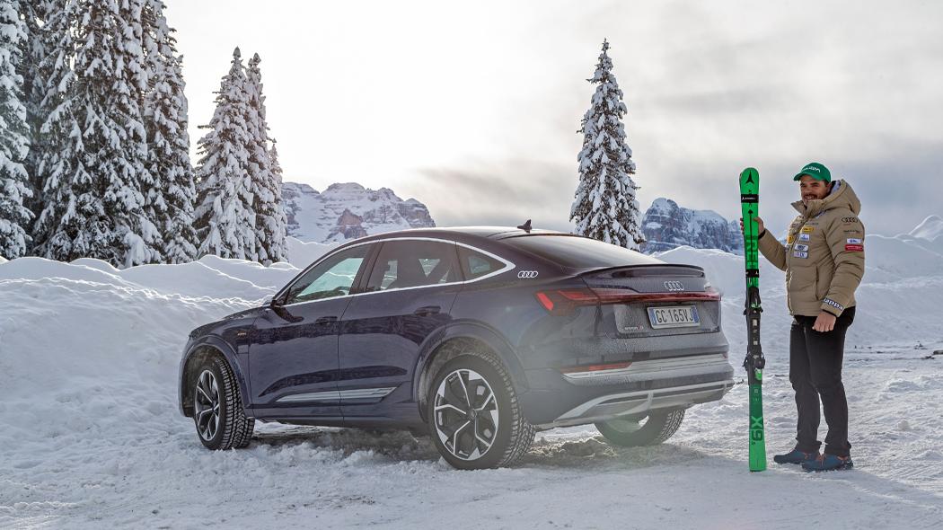 Audi Talks | il campione di Sci alpino Peter Fill e Audi e-tron Sportback