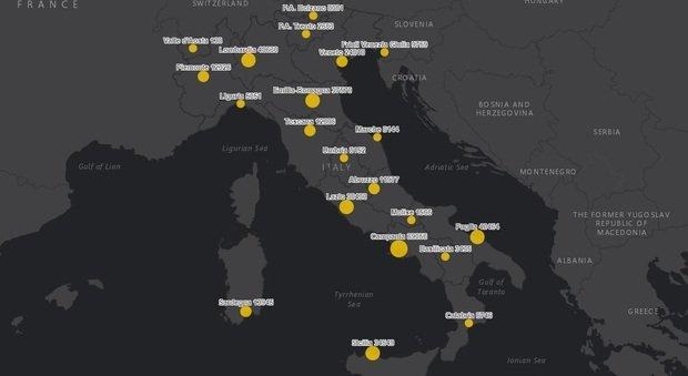 Covid Italia, bollettino 15 febbraio