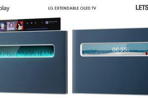 TV Oled LG con schermo estensibile