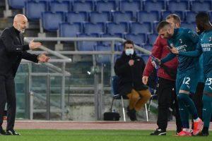 """Pioli: """"Milan, primo tempo eccezionale. Ibra, Rebic e Calhanoglu da valutare"""""""