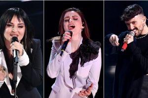 Sanremo 2021, pagelle look quarta serata: Annalisa a brandelli (6), Aiello piumato (3), Arisa professor Piton (5)