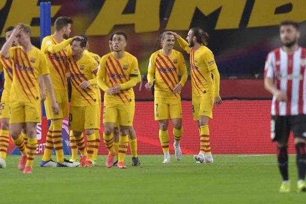 Barça irresistibile, Messi da record e primo trofeo per Koeman. Bilbao affondato