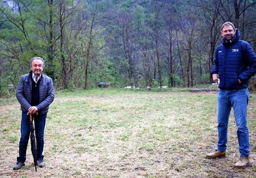 Giacomo «Gek» Galanda insieme con. Marcello Danti