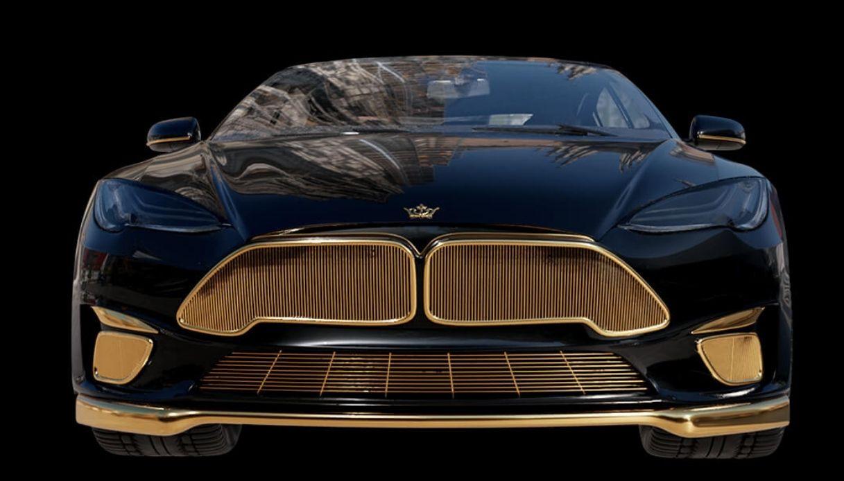 Tesla, la model S dorata