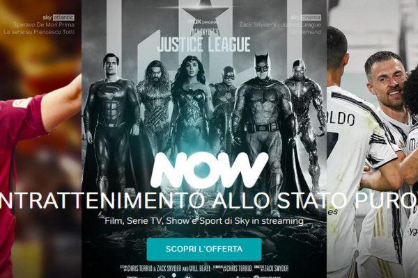 Now: la promo cinema + entertainment e le nuove uscite