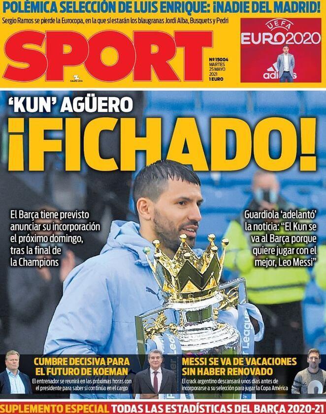 Sport, la prima pagina di oggi 25 maggio 2021