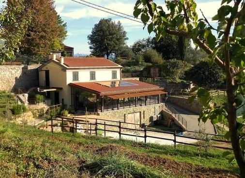 Il campus agrisociale Sant'Anna. In alto, Andrea Corradino, presidente Fondazione