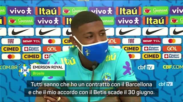 """Inter senti Emerson Royal: """"Al Barça da titolare"""""""