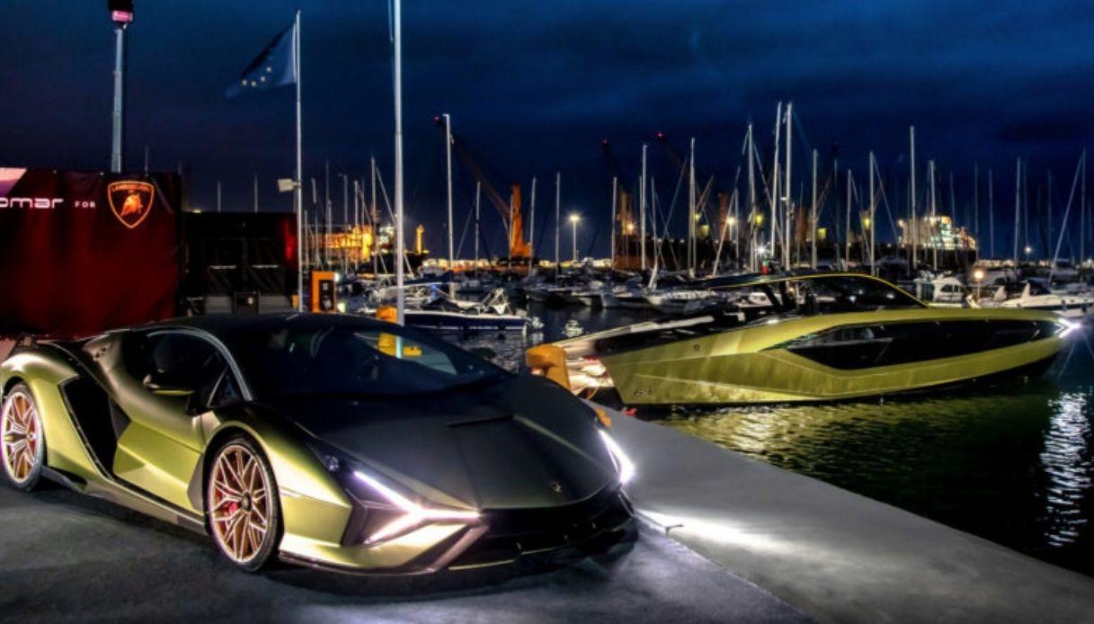 Il primo yacht al mondo firmato Lamborghini