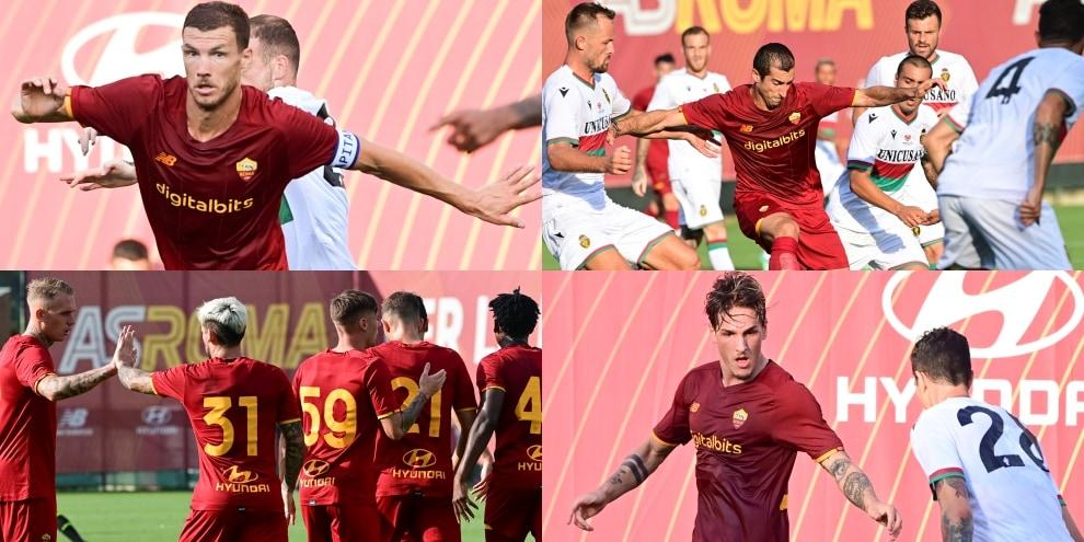 Dzeko si riprende la Roma: in campo con la fascia da capitano