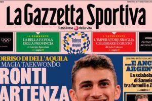"""L'apertura de La Gazzetta dello Sport con un'intervista a Buffon: """"Mi tuffo sul Mondiale"""""""