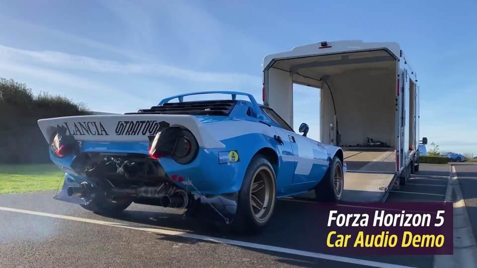 Forza Horizon 5: la registrazione del sound della Lancia Stratos