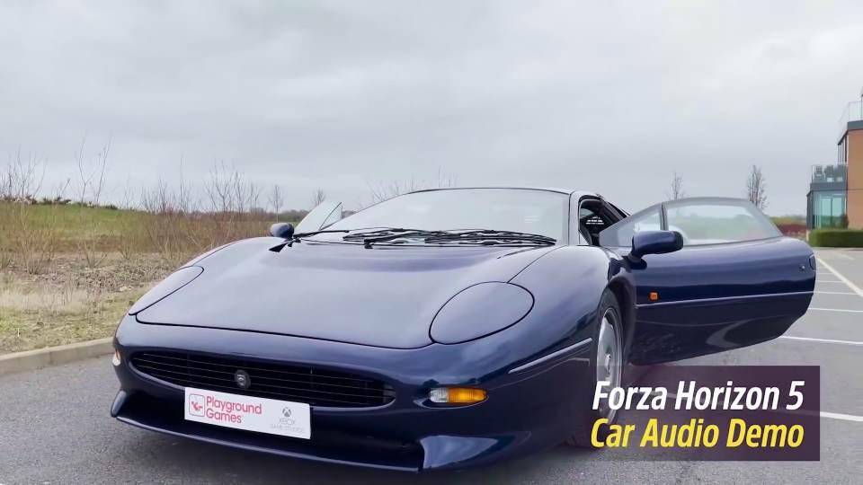Forza Horizon 5: la registrazione del sound della Jaguar XJ220