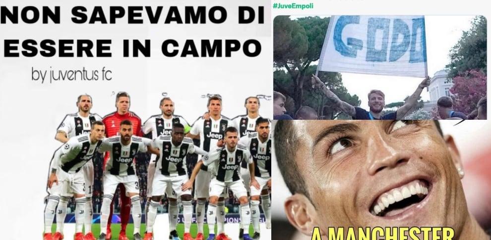 Juve sconfitta dall'Empoli: ironie e sfottò sui social