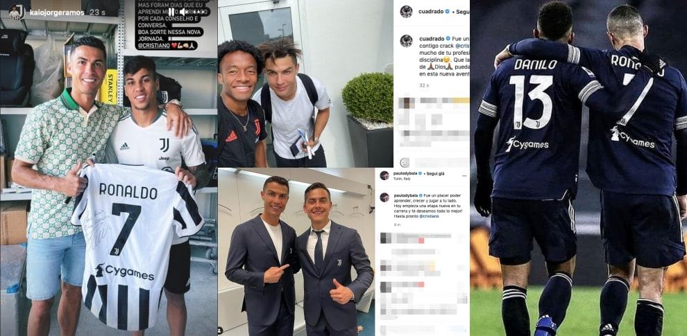 Da Cuadrado a Kaio Jorge, gli ex compagni salutano Ronaldo
