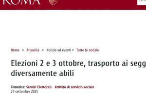 Elezioni Roma, la data sbagliata sul sito del Comune: «Si vota il 2 e il 3 ottobre»