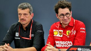 F1 GP Giappone 2019, Suzuka: Gunther Steiner (Haas) e Mattia Binotto (Ferrari) in conferenza stampa