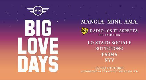 I Mini Big Love Days a Varano, musica, motori, lifestyle e food