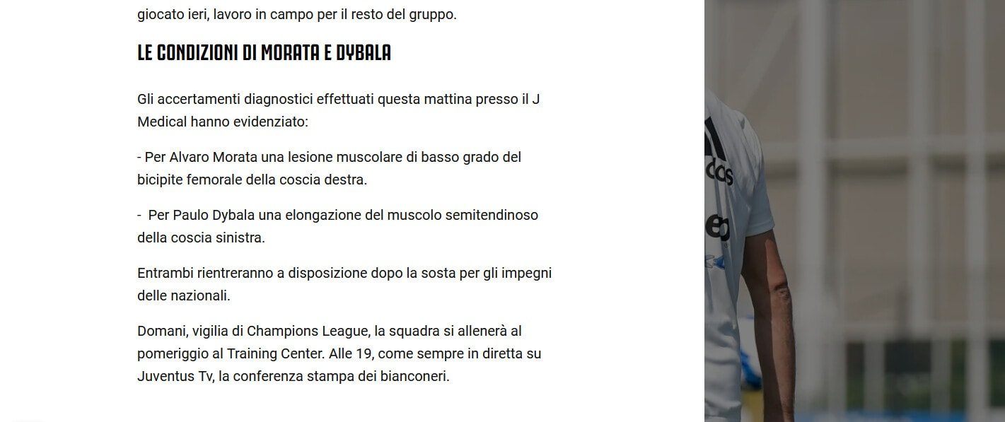 Juventus, Dybala e Morata possono tornare con la Roma