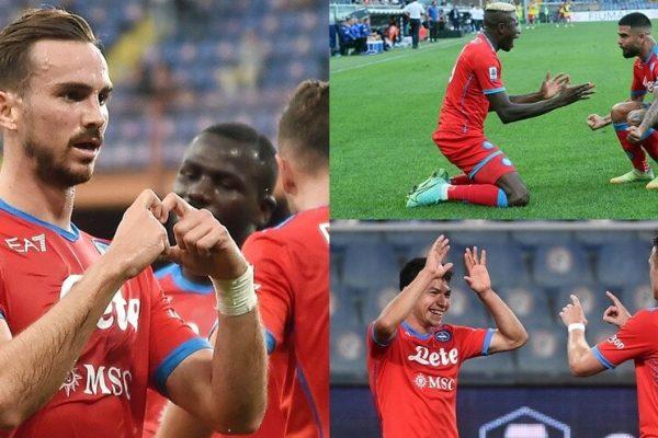 Sampdoria-Napoli 0-4: Osimhen show, Spalletti torna primo a punteggio pieno