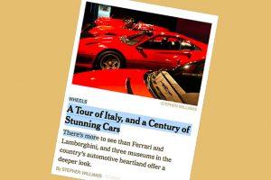 Grantour Italia motori, per NYT tappe Alfa, Mauto e Pirelli – Attualità
