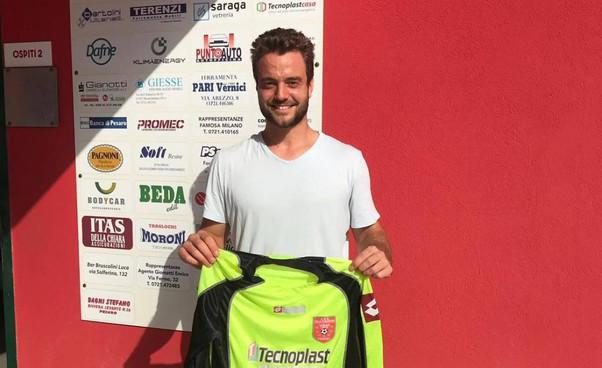 Mattia Melchiorri, portiere del Villa San Martino: la squadra ha avuto un ottimo ruolino nelle ultime tre gare