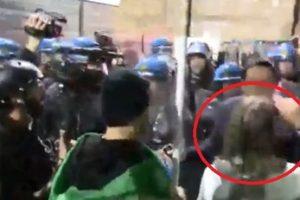 Milano, l'invasata no-Green pass urla in faccia al poliziotto? Fa una bruttissima fine…